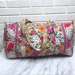 Vera Bradley Iconic Small Duffel Tea Garden Gray